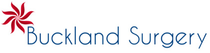 Buckland Surgery logo and homepage link